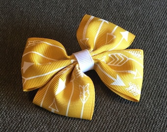 Yellow with Arrows Hair Bow