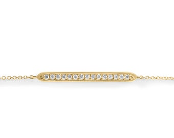 Diamond Bracelet, Yellow Gold Bracelet, Tennis Bracelet, 14K Bracelet, Red Gold Bracelet, Diamonds Chain Bracelet, Gold & Diamond Bracelet