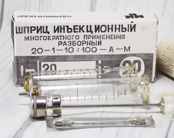 Rare syringe for cosplay medical assistant 20 ml syringe mixed media laboratory device medical decor ware doctor tools medical oddities