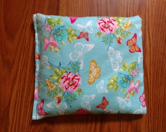 Rice Bag or Corn Bag -Heating Pad - Ice Pack -Microwavable- Freezable- Butterflies- Pick Your Own Fill-  Approx 8x10