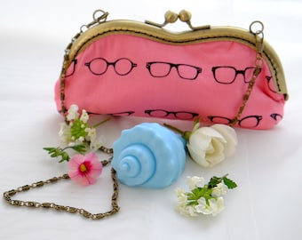 Glasses Case Geek Fabric with Shell Gift Soap