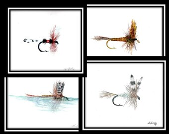Dry Fly Print set of 4