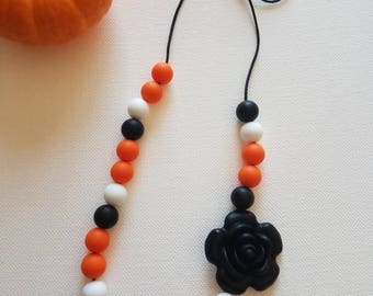Halloween Fall Teething Necklace Non Toxic Silicone Bead Chewelry