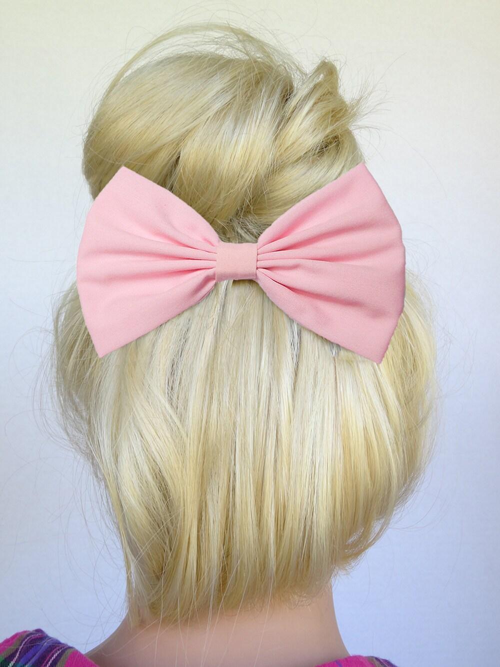 Licht rosa Haaren Schleife Clip Baby rosa Haaren Bogen Baby