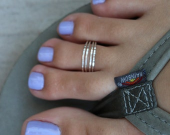 Four Strand Toe Ring / .925 Sterling Silver / Fitted Toe Ring / Or Wear as a Midi Ring