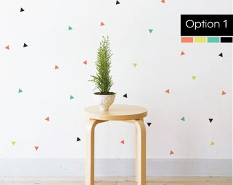 Confetti Triangles   Removable Wall Decal & Sticker for Home, Office, Nursery