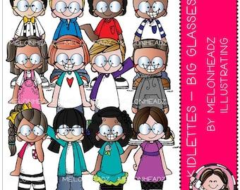 Kidlettes clip art - Big Glasses 2 - COMBO PACK