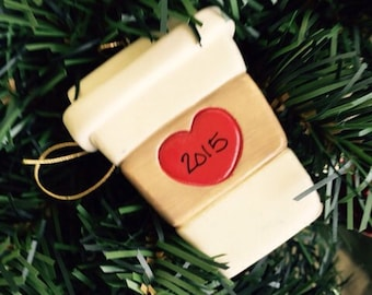 Personalized Latte ornament/Coffee lover//Starbucks Queen/Expresso/Personalized