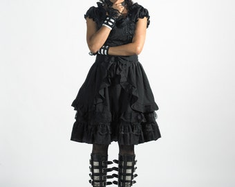 Black Asami gothic lolita dress adult--small to plus size