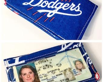 LA Dodgers Wallet MLB -  - business card holder, credit card holder, Vinyl ID Slot, gift card holder