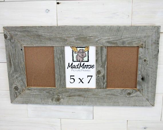 3 pane 5x7 Barn Wood Thin x 3 Frame barn wood frame