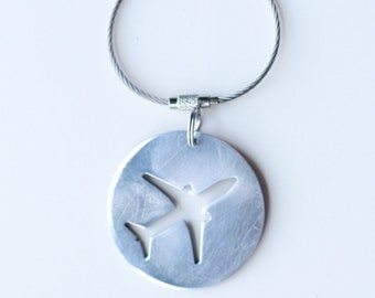 Boeing Aircraft Skin bottle opener, dogtag, keychain, zipper pull.
