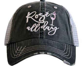 Free Shipping - Rose' All Day Women's Trucker Hat - KDC-TC-228