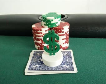 Dollar Sign Poker Card Capper / card protector / poker chip / poker cards / playing card / deck of cards / poker / cards / card player