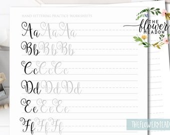 Learn calligraphy, Hand lettering guide, Calligraphy tutorial, modern lettering worksheets lettering practice how to brush alphabet 09