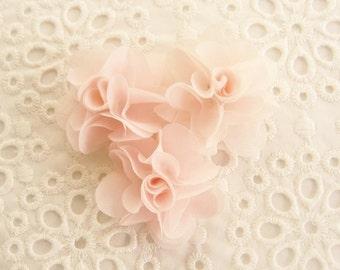 Blush Pink Chiffon Flowers  Hand-dyed Blush Flowers