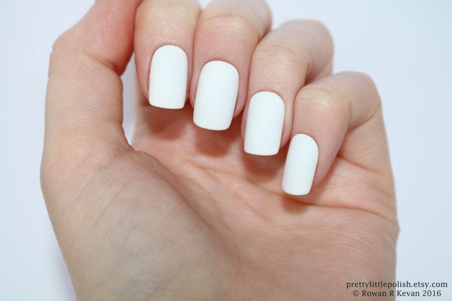 Matte white short square nails, Nail designs, Nail art, Nails ...