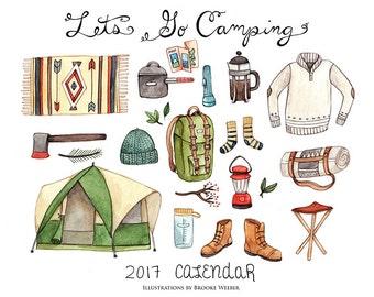 Let's Go Camping 2018 Calendar