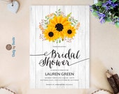 Woodsy sunflower bridal s...
