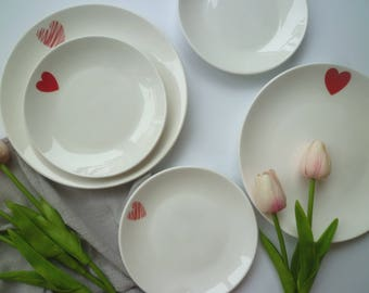 2pcs Ceramic Plate / Porcelain Plate / Dinner Set / Ceramic Coffee Cup / Tableware / Stoneware / Food Photography /CP6