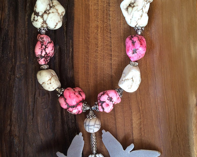 UNIQUE Handmade Statement Necklace, Boho, Bird, Tribal, Festival, Sexy, Shadow, Native (Free Bird Necklace) (Shadow Hand Puppet Collection)