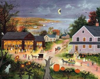 Barn Dance - Halloween - Limited Edition Print _ by J.L. Munro