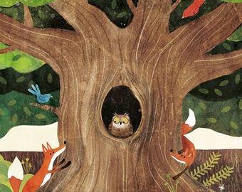Lámina El gran árbol