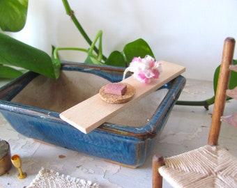 Pink 1:12 Dollhouse Miniature Shower Pouf, Bath Pouf, Bath Poof, Artisan Handmade Bath Decor Accessory Beauty Spa Scrubbie Spa Soap Sponge