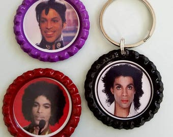 Prince inspired keychain and magnets