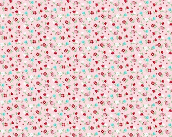 "Sweetness Floral Pink from the ""Little Bit of Sweetness"" collection by Tasha Noel for Riley Blake Designs"