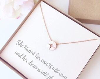 Compass Necklace Graduation Gift - Grad Gift - Gifts for Grads - Compass Necklace Gift - Graduation Quote Necklace Gift - Going Away Gift