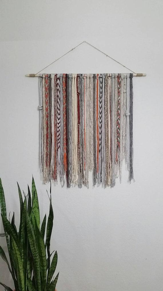 Bohemian yarn tapestry yarn wall hanging for Yarn wall art