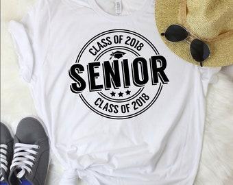Senior Class of 2018 Short-Sleeve T-Shirt | graduation shirt, graduation gift, senior shirt, senior 2018, senior, graduation, graduate shirt