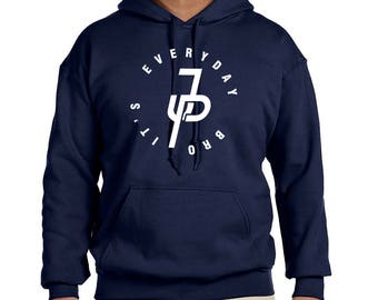 Jake Paul Navy Blue Hooded Sweatshirt team 10 It's Everyday Bro ADULT SIZED  HOODIES many sizes and colors available