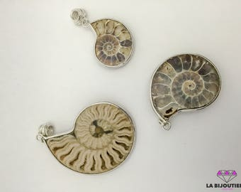 Ammonite Pendant | Sterling silver pendant For Women