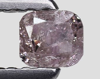 Rare 0.23 Ct Cushion 100% Untreated Natural Fancy Purple Pink Diamond