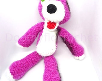 Breaking Bad Pink Teddy Bear plush crochet style