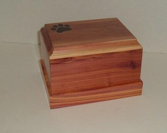 Cedar pet urn