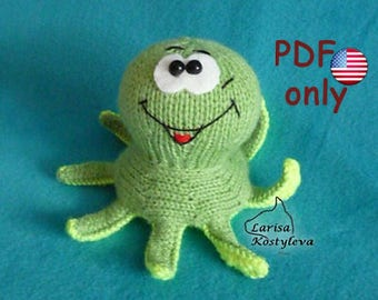 Knitting pattern - Octopus amigurumi sea animal