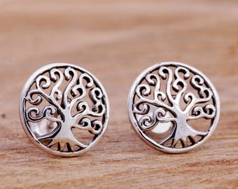 Sterling Silver Tree of Life Earrings, Tree of Life Earrings, Tree Earrings, Silver Tree Studs, Tree of Life Jewellery, Tree Jewellery