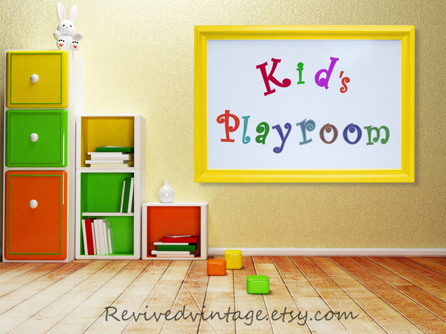 KIDS PLAYROOM DECORATION Wall Art Decor Large Whiteboard