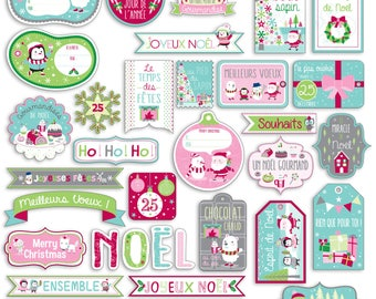 """Die cuts embellishments """"Christmas North Pole"""""""