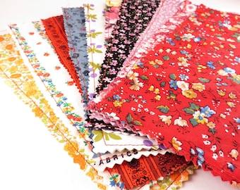 12 Floral Print Envelope Sleeves - Sewn fabric