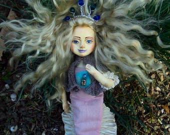Mermaid. Undine. Artdoll.  Author's doll.Handmade doll