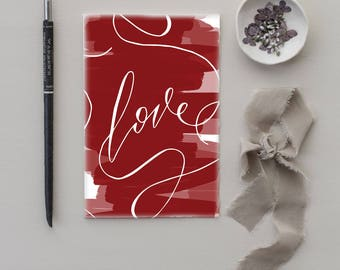 Love Valentines Day Card | modern calligraphy love card, blank valentine card, romantic card, romantic valentine, modern valentine, romance