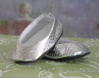 Metallic Silver Ballet Flats