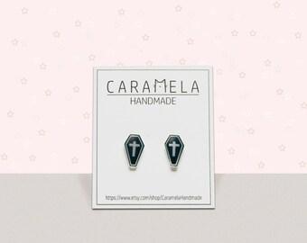 Coffin stud earrings Halloween stud earrings Grave Stud R.I.P Grave Stud Earrings GOTHIC EARRINGS