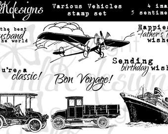 Various Vehicles Digital Stamp Set