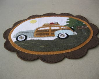 PDF Pattern: Fishing with Woody Penny Rug, Instant Download, Summer/Fall/Autumn Decoration