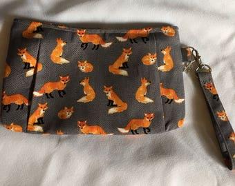 Charmed Fox Wristlet